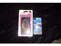 PACK OF 2 HARD BACK COVERS FOR I PHONE 4/4S BOTH WITH PRINT ON THEM