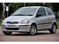 2003 Toyota Yaris 1.0 VVT-i Colour Collection 3dr 12 MONTHS MOT+FULL SERVICE HISTORY+JUST SERVICED