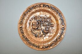 Massive Vintage Copper Wall plate - Over 28 inches in diameter (73cm)!