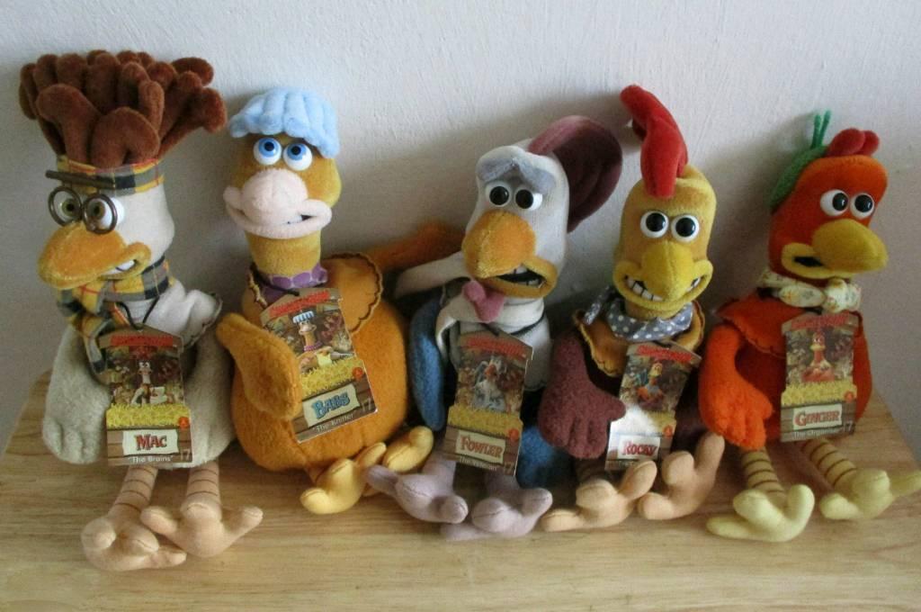 Chicken Run Plush Toys Complete Set 1999 In Beeston