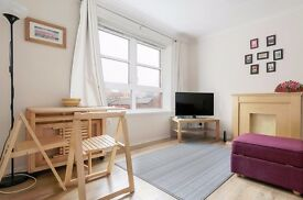 Stylish, modern build 2 bedroom flat in Leith with private parking available May – NO FEES