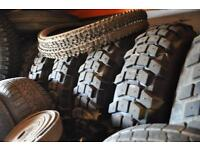 Land Rover Michelin XCL studded tyres and rims (x5) plus option on two non-studded - like new