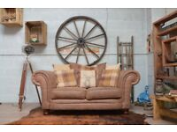 DFS Granby Accent Armchair Fabric Brown Castor Legs