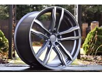 NEW 21 inch rims for BMW X5 X6 F15 F16 E70 E53 M612 M599 style 5x120 10.5J 11.5J UK Delivery
