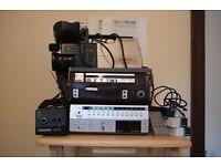 AKAI Portable Video Recorder with Tuner and HITACHI Saticon Video Camera