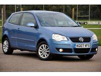 2007 Volkswagen Polo 1.2 S 3dr+FREE WARRANTY+CHEAP TO RUN+READY TO DRIVE AWAY+LONG MOT