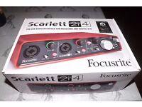 BRAND NEW Scarlett 2i4 USB (1st Gen) Audio Interface for musicians & Digital DJs