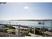 SANDBANKS PENINSULA: Fully furnished, one bedroom studio apartment offering sea views from balcony