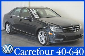 2014 Mercedes-Benz C-Class C300 4Matic GPS+Camera de Recul+Cuir+