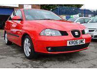 SEAT IBIZA 1.4 SPORT 5d 74 BHP 3 MONTH WARRANTY CAMBELT CHANG (red) 2006