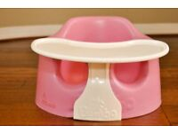 pink bumbo seat and tray