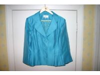 Country Casuals Turquoise Jacket. Size 14.