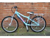 "Kids Mountain Bike - Dawes Bandit, 14"" Frame, 24"" Wheels, 18 Gears, DataTag + Accessories"