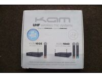 KAM KWM1940 UHF twin mic set