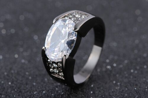 Size 8,9,10,11,12 Mens Jewelry Champagne Topaz Gold Filled Wedding Ring Gift