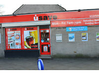 USAVE convenience store to let in York Street, Falkirk, FK2 9EW