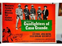 ORIGINAL BRITISH FILM POSTER OF GUNFIGHTERS OF CASA GRANDE STUNNING IMAGE IN EXCELLENT CONDITION