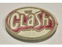 The Clash Vintage Badge Punk Rock Rare Memorabilia