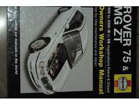 ROVER 75 & MG ZT 1999 - 2006 Haynes hardback