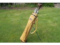 St.Andrews golf clubs, bag & stand