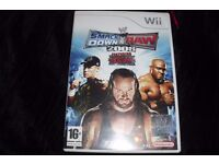 "WII GAME ""SMACK DOWN VS RAW 2008"" COMPLETE IN BOX"