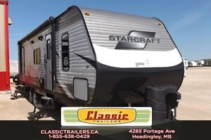 2015 starcraft 28QBS AR-1 MAXX 2 queen sized beds and great ente