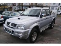 Mitsubishi L200 4wd Trojan Lwb Dcb (silver) 2007