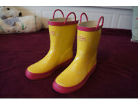 REGATA Children's Wellington Boots Size 3 / 36 Yellow/Pink Very Good Condition