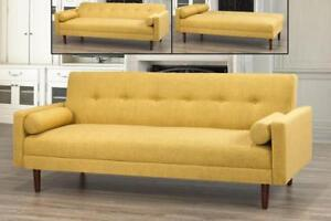 Fabric Sofa Bed with accent Pillows (BD-1661)