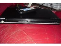 TOSHIBA BLACK DVD PLAYER WITH REMOTE CONTROL GOOD WORKING ORDER