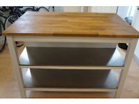 Kitchen table / kitchen Unit - STENSTORP - Ikea, one year old, very good condition, solid Oak top,