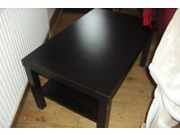 "BLACK IKEA LONG COFFEE TABLE LENGTH 35.5"" HEIGHT 18"""