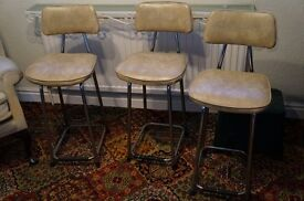 kitchen bar stools from the 1970's