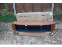 Brand New Techlink 405740 Ellipse EL140WSG Walnut & Satin Grey TV Stand