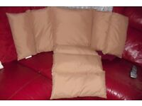 NEW BEIGE PADDED SEAT CUSHION FITS INSIDE YOUR ARM CHAIR