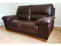 ITALIAN LEATHER 2 SEATER & 3 SEATER SOFAS BY VIOLINO EXCELLENT CONDITION
