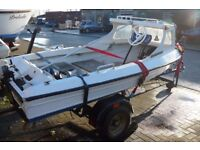 FISHING BOAT WITH CUDDY & TRAILER 12 Ft
