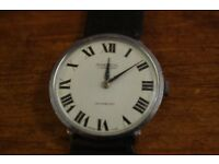 vintage ingersoll 17 jewel swiss made hand winding working with leather strap
