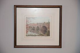 Framed 'Shrewsbury' Painting