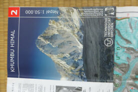 Nepal Everest Base Camp Trekking Area Map - Used but as new