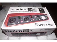 BRAND NEW Scarlett 2i4 USB Audio Interface for musicians and digital DJs