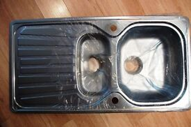 Stainless Steel Sink Unit (Unused) with Accessory Pack