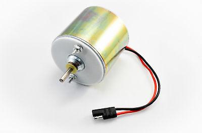 12-volt deer feeder motor with flat plug connector