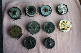 Fly Fishing reel colection