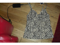 NEW STILL GOT TAGS ON SIZE 32C LEOPARD PRINT TANKINI TOP COST £10