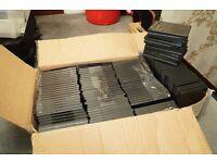 120 x SINGLE DVD CASES