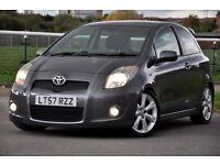 2007 Toyota Yaris 1.8 VVT-i SR 3dr JUST SERVICED+VERY RARE 1.8 SR MODEL+SPORT LOWER SUSPENSION