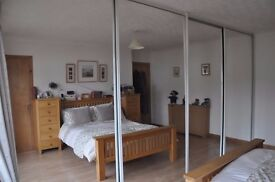 4 fitted wardrobe mirror doors 240 x 112 cm each