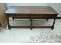large wooden coffee table vintage