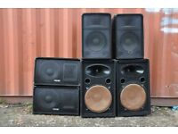Dj Equipment, 2400w, speakers, amp, stands, cables